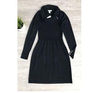White House Black Market Cowl Neck Sweater Dress